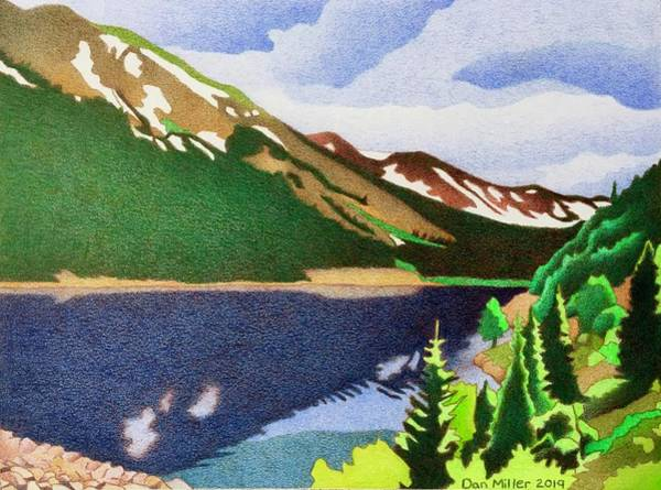 Drawing - Urad Lake by Dan Miller