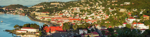Wall Art - Photograph - Us Virgin Islands, St Thomas Elevated by Walter Bibikow