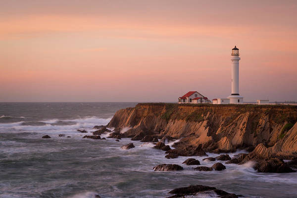 Usa, California, Point Arena Art Print
