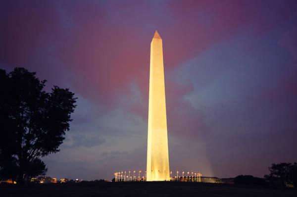 Usa Flag Photograph - Usa Flag At The Washington Monument by Franckreporter