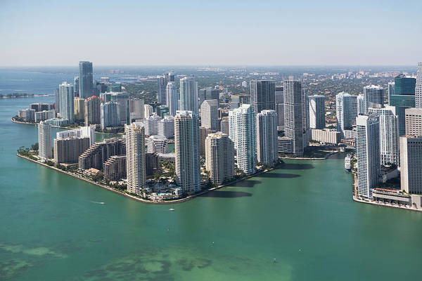 Southern Usa Photograph - Usa, Florida, Miami Skyline As Seen by Fotog