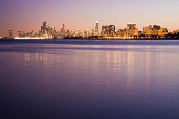 Usa, Illinois, Chicago, City Skyline Art Print