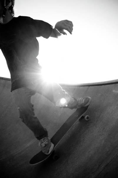 Skateboard Photograph - Usa, Wisconsin, Skateboarder In Skate by Win-initiative