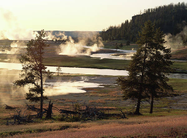 Firehole River Wall Art - Photograph - Usa, Wyoming, Yellowstone National by Michael Townsend