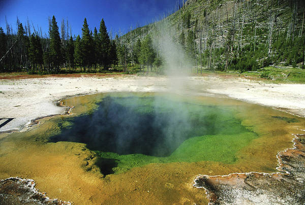 Sulphur Photograph - Usa, Yellowstone National Park, Hot by Philippe Bourseiller