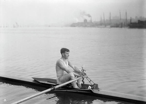 Painting - Vancouver Rowing Club One Man Boat by Celestial Images