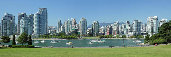 False Creek Wall Art - Photograph - Vancouver Waterfront Skyline by S. Greg Panosian