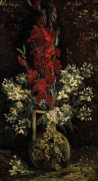 Wall Art - Painting - Vase With Red And White Flowers, 1886 by Vincent Willem van Gogh