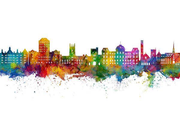 Wall Art - Digital Art - Vassar New York Skyline by Michael Tompsett