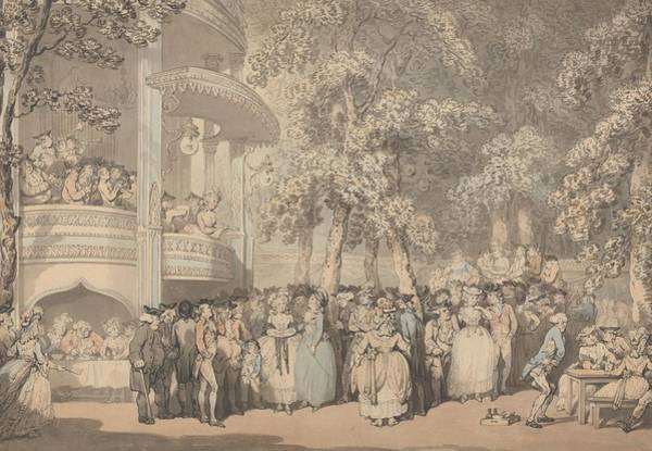 Drawing - Vauxhall Gardens by Thomas Rowlandson