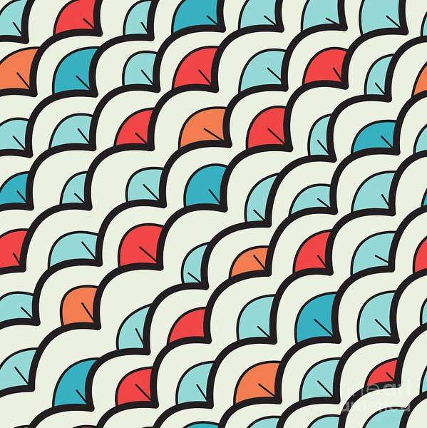 Wall Art - Digital Art - Vector Seamless Pattern. Modern Stylish by Curly Pat