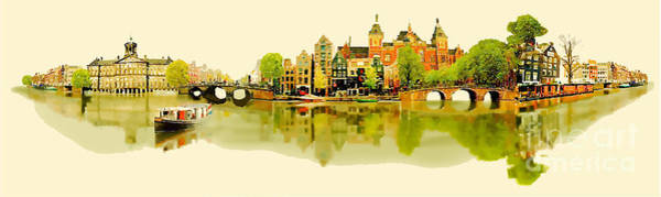 Holland Digital Art - Vector Water Color Illustration by Trentemoller