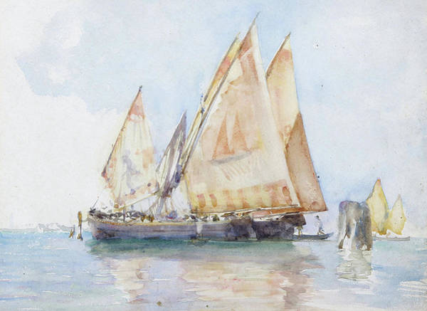 Painting - Venetian Sails  by Henry Scott Tuke
