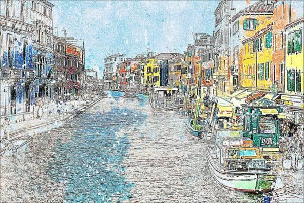 Venezia Painting - Venezia, Italy by ArtMarketJapan