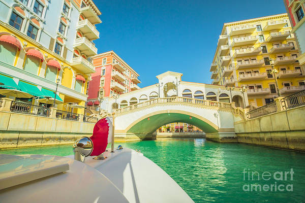 Photograph - Venice Doha Bridge by Benny Marty
