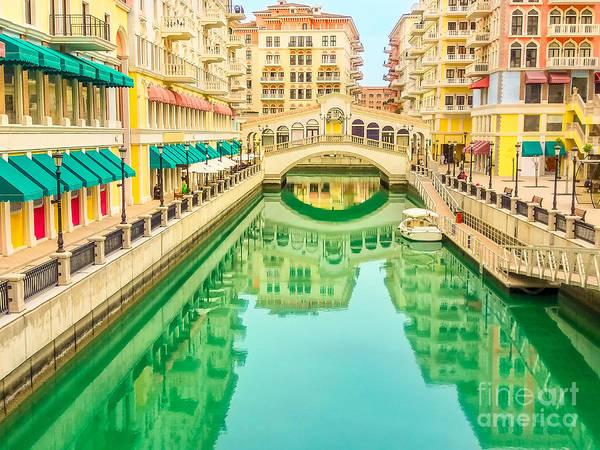 Photograph - Venice Doha Reflection by Benny Marty