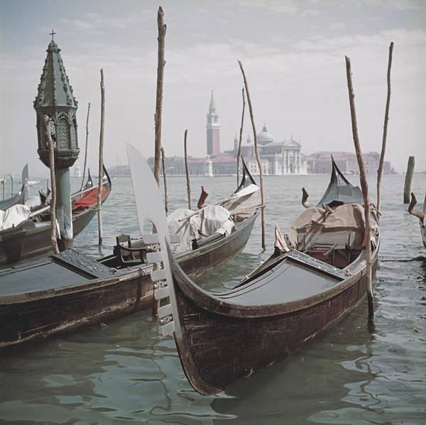 Photograph - Venice Gondolas by Slim Aarons