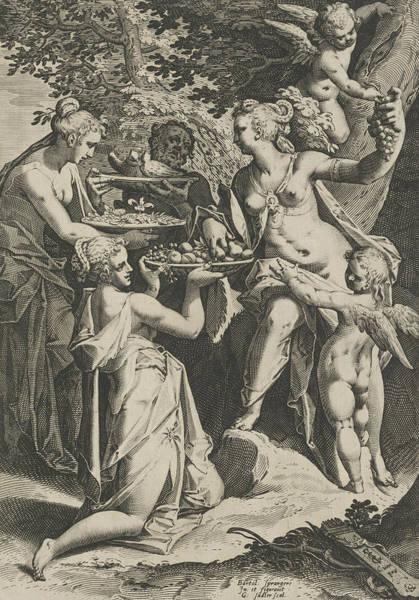 Relief - Venus Receiving Gifts by Aegidius Sadeler