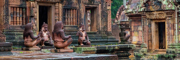 Wall Art - Photograph - View Of Banteay Srei Temple, Angkor by Panoramic Images