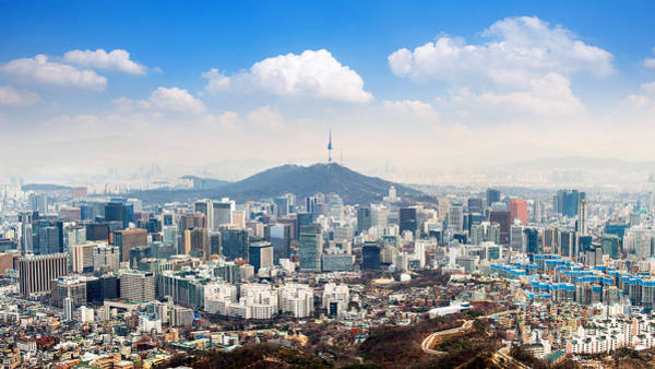 Wall Art - Photograph - View Of Downtown Cityscape And Seoul by Guitar Photographer