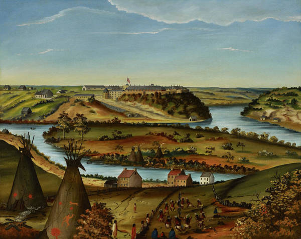 Wall Art - Painting - View Of Fort Snelling by Edward K Thomas