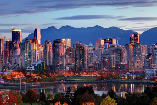 False Creek Wall Art - Photograph - View Of Skyline With Yaletown, False by Ron Watts