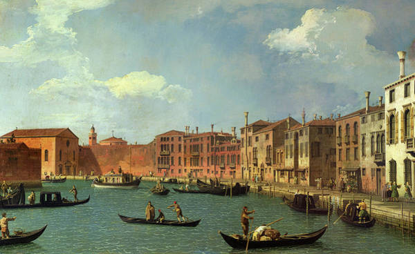 Wall Art - Painting - View Of The Canal Of Santa Chiara by Canaletto