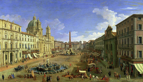 Wall Art - Painting - View Of The Piazza Navona by Canaletto