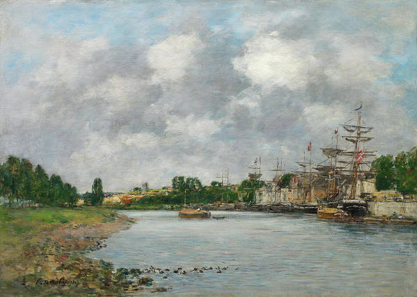 Wall Art - Painting - View Of The Port Of Saint-valery-sur-somme, 1891 by Eugene Boudin