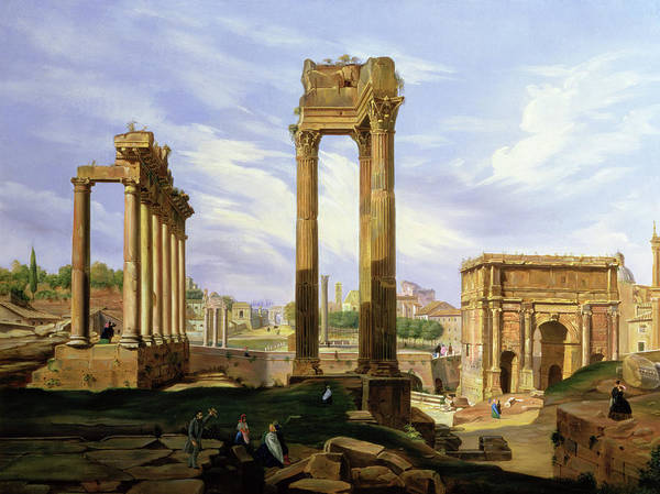 Collapse Painting - View Of The Roman Forum by Jodocus Sebasiaen Adeele