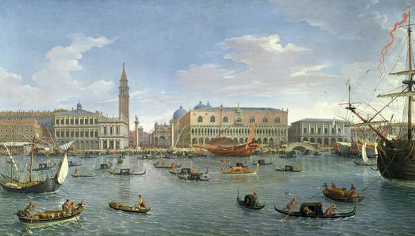 Wall Art - Painting - View Of Venice From The Island Of San Giorgio by Gaspar van Wittel