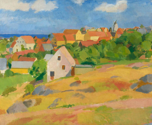 Painting - View Over Gudhjem by Karl Isakson