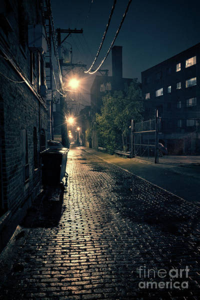 Haunted Wall Art - Photograph - Vintage Chicago Alley by Bruno Passigatti