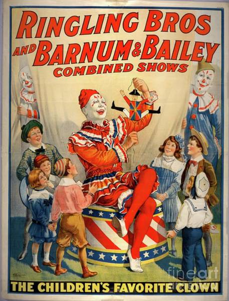 Circus Clown Painting - Vintage Circus Poster by Esoterica Art Agency