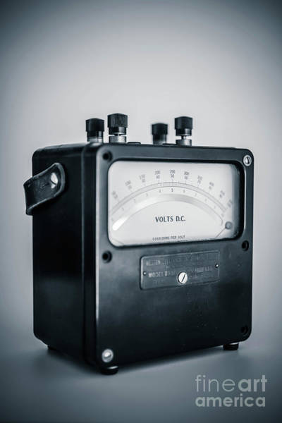 Wall Art - Photograph - Vintage Electric Meter by Edward Fielding