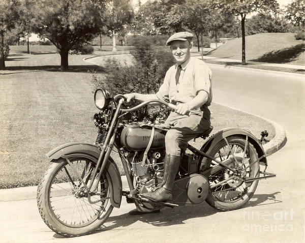 Sturgis Wall Art - Photograph - Vintage Harley Davidson by Jon Neidert