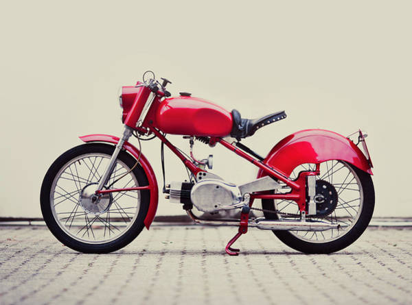Photograph - Vintage Italian Motorcycle by Thepalmer