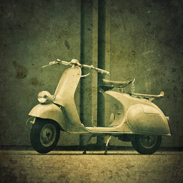 Wall Art - Photograph - Vintage Italian Scooter by Thepalmer