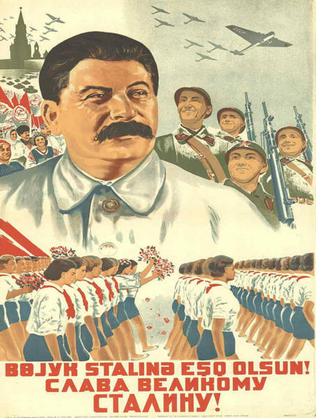 Lenin Painting - Vintage Poster - Josef Stalin by Vintage Images