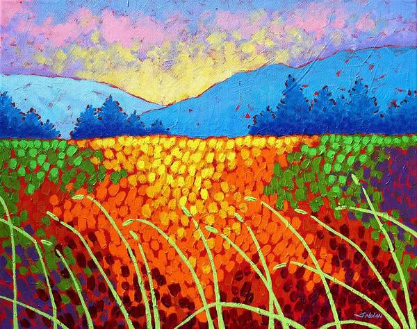 Wall Art - Painting - Violet Hills  by John  Nolan