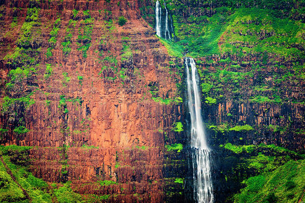 Waimea Canyon Photograph - Waipo'o Falls, Waimea Canyon State by Russ Bishop