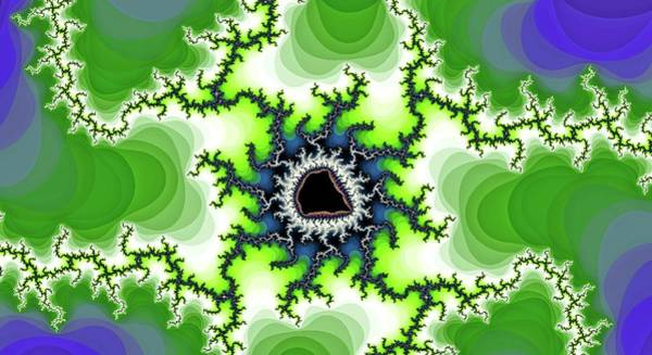 Digital Art - Walking Green Spider Fractal by Don Northup