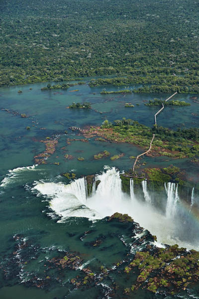 Wall Art - Photograph - Walkway And Devil's Throat, Iguazu by David Wall