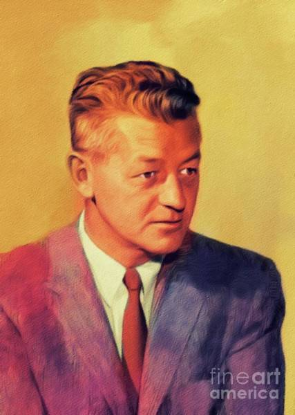 Wall Art - Painting - Wallace Stegner, Literary Legend by John Springfield