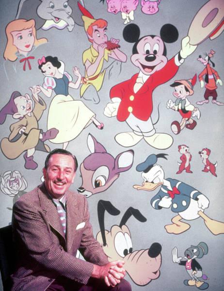 Photograph - Walt Disney by Alfred Eisenstaedt