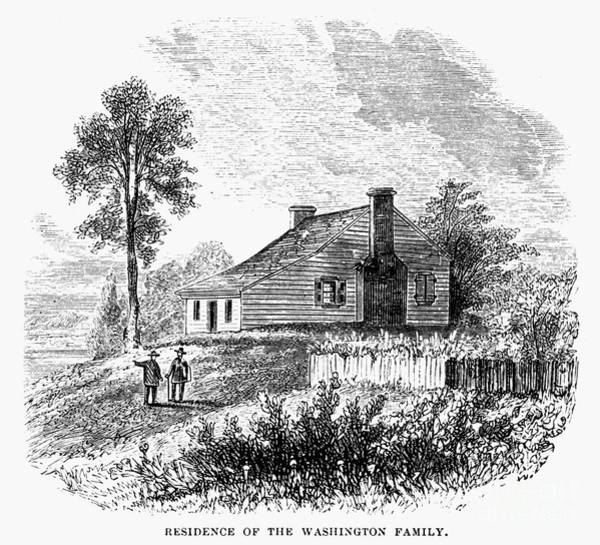 Drawing - Washington Birthplace by Granger