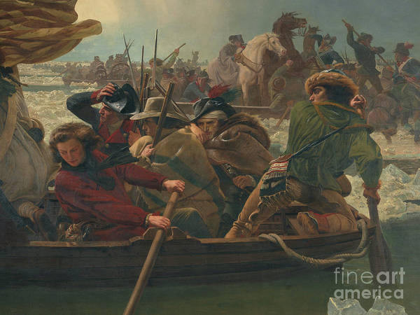 Up North Painting - Washington Crossing The Delaware River, Detail by Emanuel Gottlieb Leutze