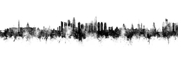 Wall Art - Photograph - Washington Dc, Los Angeles And Buenos Aires Skyline Mashup by Michael Tompsett