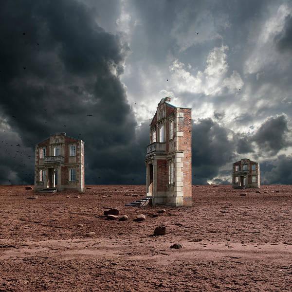 Digital Art - Wasteland Of Facades by Marc Ward