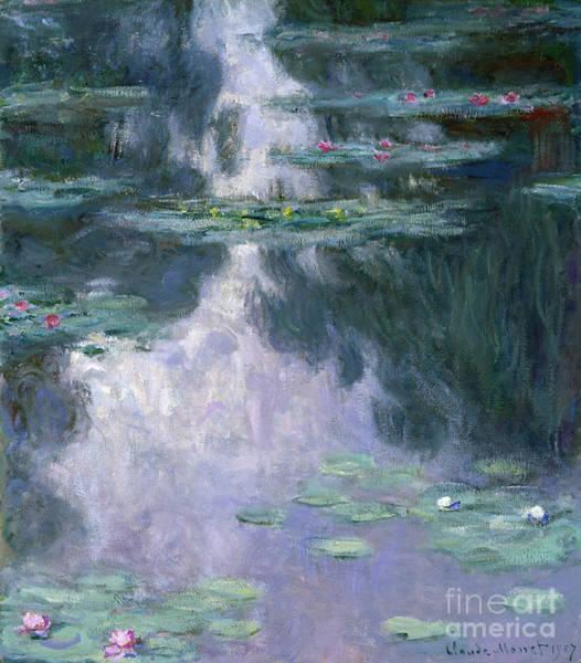 Violet Painting - Water Lilies, Nympheas, 1907 by Claude Monet